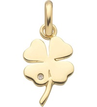 Links Of London Four Leaf Clover 18Ct Gold Charm