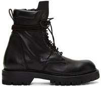 Rick Owens Black Low Army Boots