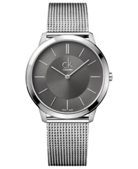 Calvin Klein Watch Men's Swiss Minimal Stainless Steel Mesh Bracelet 40Mm K3m21124