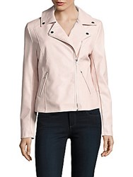 Saks Fifth Avenue Off Center Zip Moto Jacket Grey
