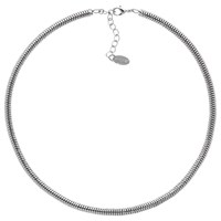 Monet Short Snake Chain Necklace Silver