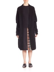 Acne Studios Oversized Open Front Cardigan Black