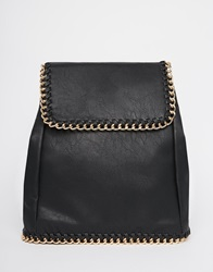 Yoki Fashion Backpack With Chain Detail Black