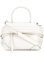 Tod's Fold Over Closure Tote Nude Neutrals