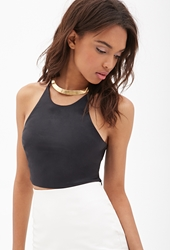 Forever 21 Faux Leather Cami Crop Top