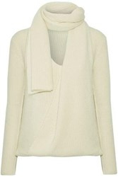 Tom Ford Ribbed Cashmere Sweater Ivory