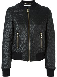 Versace Collection Embossed Leather Jacket Black