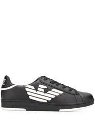 Emporio Armani Ea7 Logo Low Top Sneakers A120 Black