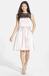 After Six Women's Sleeveless Lace And Satin Cocktail Dress