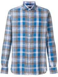 Orian Checked Shirt Blue