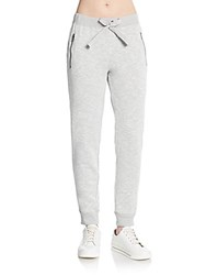Andrew Marc New York Cotton Jersey Jogger Pants Heather Grey
