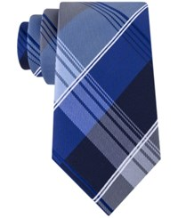 Geoffrey Beene Men's P For Plaid Tie Navy