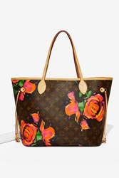 Nasty Gal Vintage Louis Vuitton Sprouse Roses Neverfull Mm Tote Bag