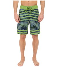 The North Face Whitecap Boardshorts Vibrant Green Moss Stripe Men's Swimwear