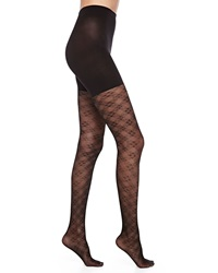 Spanx Tight End Floral Checked Tights Black