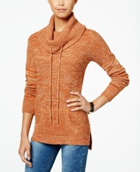 Planet Gold Juniors' Cowl Neck Sweater Tunic Potters Clay