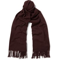 Acne Studios Canada Virgin Wool Scarf Burgundy