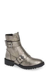 Linea Paolo Teigan Moto Bootie Anthracite Leather