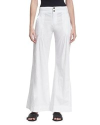 Xcvi Rebecca Wide Leg Cotton Blend Pants White