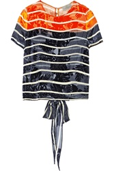 Preen Amelia Striped Fil Coupe Top