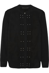 Belstaff Darcy Studded Silk Georgette Blouse Black
