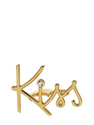 Lanvin Kiss Gold Plated Brass Double Ring