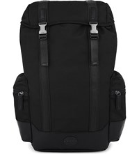 Polo Ralph Lauren Nylon And Leather Backpack Black