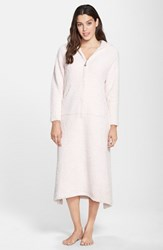 Women's Barefoot Dreams Cozychic Hooded Zip Robe Pink