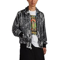 Ovadia And Sons Sequined Musical Note Print Coach's Jacket Black