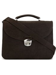 Orciani Classic Briefcase Brown