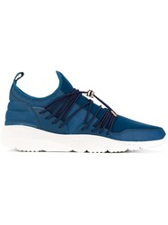 Filling Pieces Runner 3.0 Low Laced Sneakers Men Leather Polyester Rubber 41 Blue