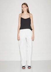 The Row Taylor Washed Cotton Drill Pant White