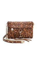 Rebecca Minkoff Animal Print Mini Mac Tan