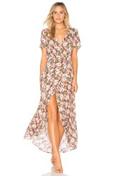 Auguste Wild Rose Maxi Wrap Dress