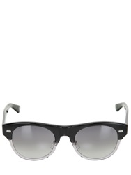 Gucci Two Tone Rounded Acetate Sunglasses Black