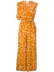 Alysi Abstract Print Jumpsuit Yellow