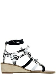Ancient Greek Sandals With Peter Pilotto Gladiator Wedge Neutral