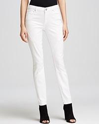 Elie Tahari Azella Pintuck Skinny Jeans In Optic White