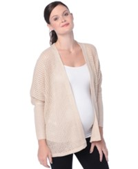 Wendy Bellissimo Maternity Open Front Cardigan Natural