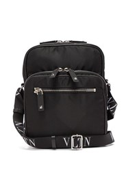 Valentino Vltn Technical Canvas Messenger Bag Black