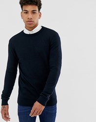 New Look Crew Neck Jumper In Navy