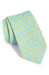 The Tie Bar Webb Floral Linen Light Blue