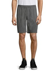 Mpg Pacific Checked Shorts Heather Charcoal