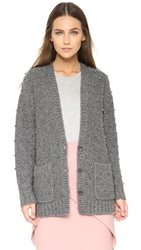 Mason By Michelle Mason Beaded Cardigan Charcoal