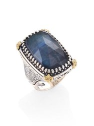 Konstantino Cassiopeia Doublet Spectrolite 18K Yellow Gold And Sterling Silver Ring Blue