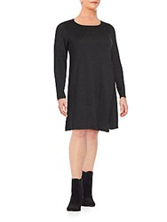 Eileen Fisher Merino Wool Long Sleeve Dress Charcoal