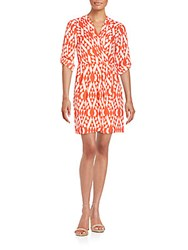 Collective Concepts Geo Print Dress Coral