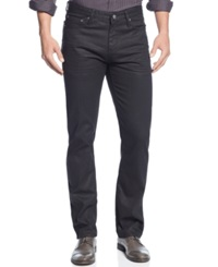 Alfani Big And Tall Deker Coated Jeans Black