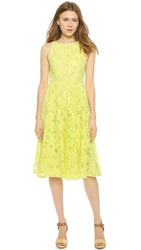 4.Collective Sleeveless Midi Lace Dress Sunshine Yellow