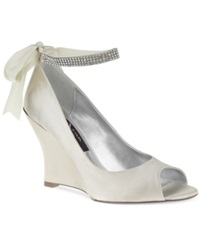 Nina Emma Evening Wedges Women's Shoes Ivory
